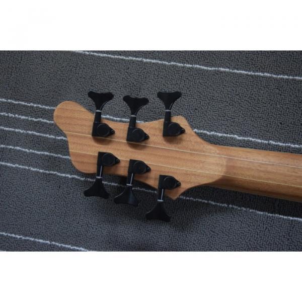 Custom Mayones Built 6 String Gray Black Bass