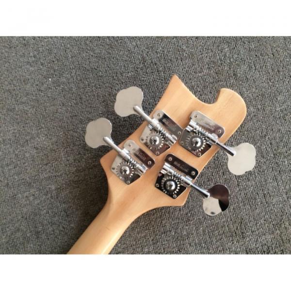 Custom Made Rickenbacker Mahogany Wood Body Natural 4003 Bass