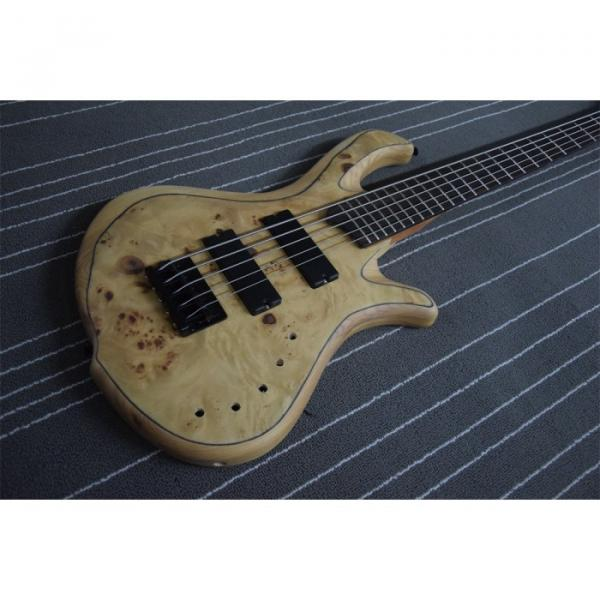 Custom Mayones Built 5 String Birds Eye Bass