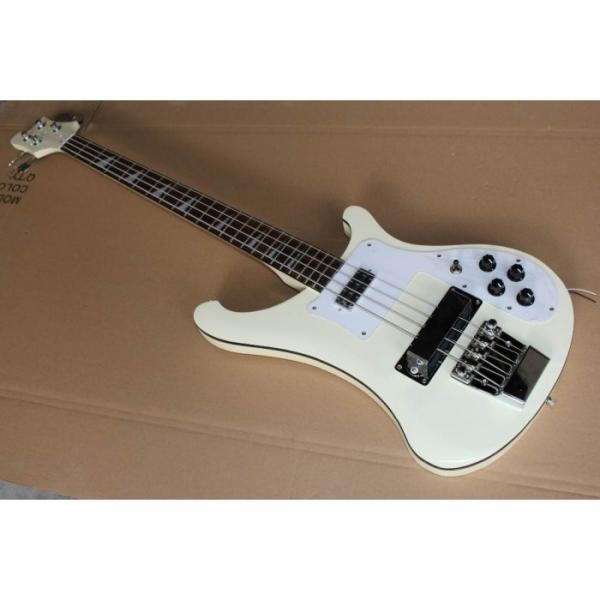 Custom 4003 White With Black Bindings Rickenbacker Electric Bass