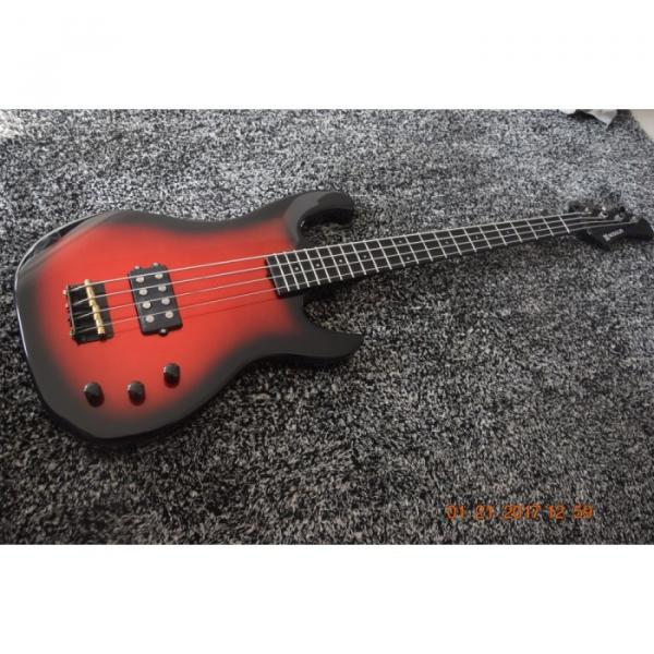 Custom 4 Strings Funk Unlimited Modulus Bass Black Red Mettalic Burst Finish