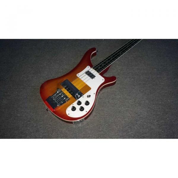 Custom 22 Frets Fireglo 4003 Neck Thru Body Construction Bass Dot Inlays