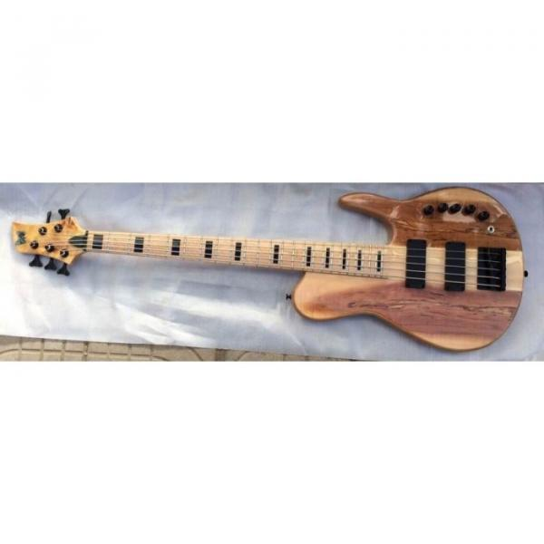 Custom Shop Fordera 5 String Spotted Maple Top Bass Natural