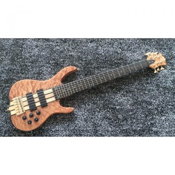 Custom Shop 6 String Natural Maple Top Ken Smith Bass Ebony Fretboard