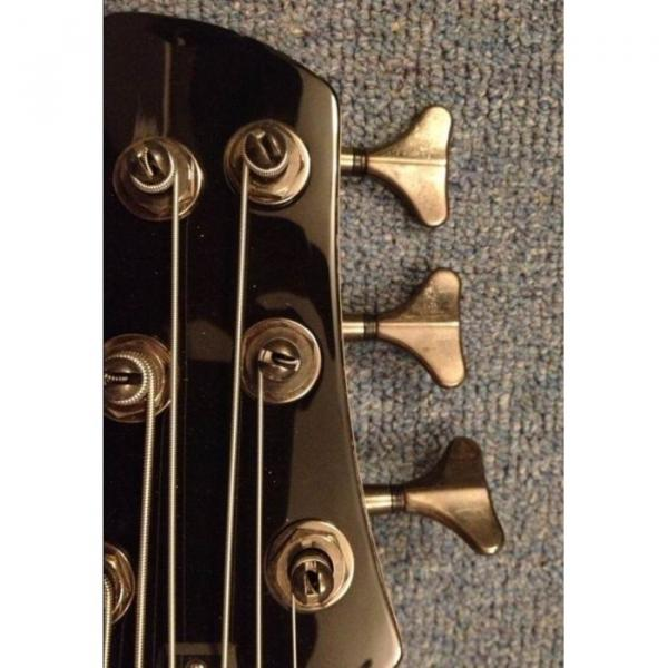 Custom Shop 6 String Burgundy Electric Bass