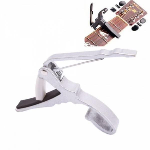 Quick Change Guitar Capo for Electric Acoustic Guitar Silver