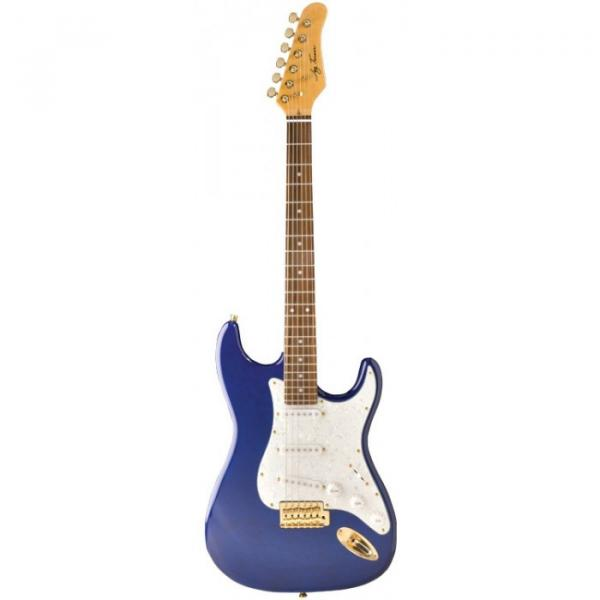 Jay Turser 300QMT Series Electric Guitar Trans Blue