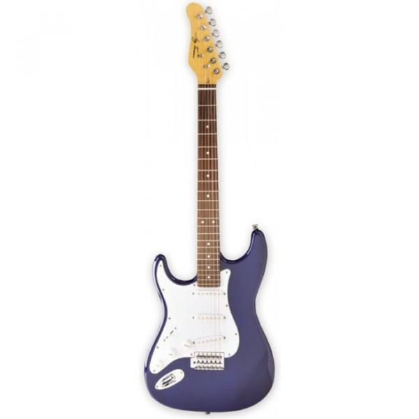Jay Turser 300 Series Electric Guitar, Left Handed Trans Blue