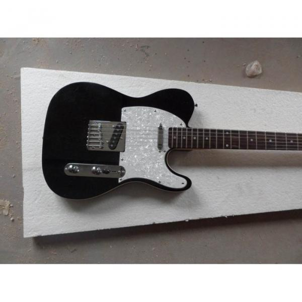 Custom Telecester 6 Strings Black Electric Guitar