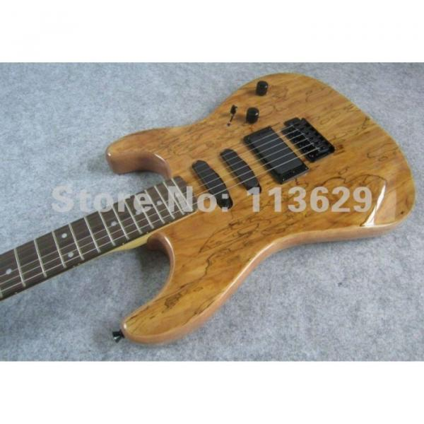 Custom Strat Electric Guitar Spalted Maple Top