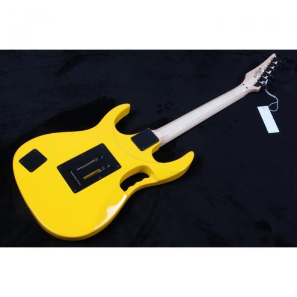 Custom Shop Yellow Ibanez Pink Pickups Electric Guitar