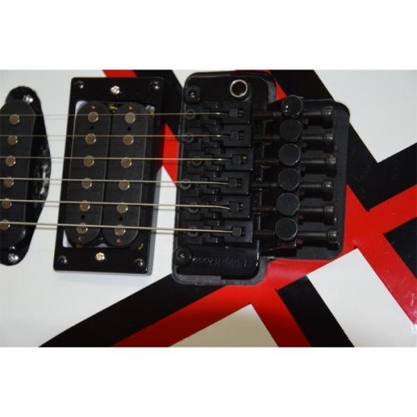 Custom Shop White Black Red Stripe Design Electric Guitar