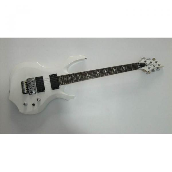 Custom Shop White BC Rich Electric Guitar