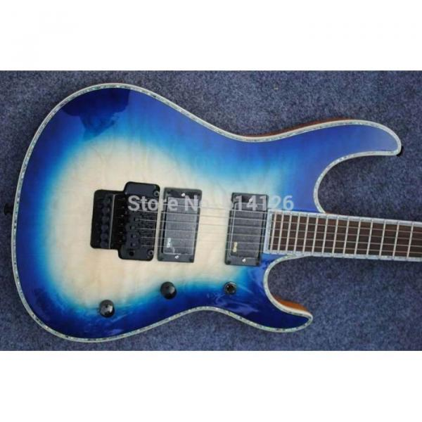 Custom Shop Suhr Quilted Translucent Natural Blue Electric Guitar