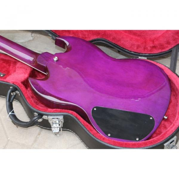 Custom Shop SG Purple Quilted Maple Top Electric Guitar