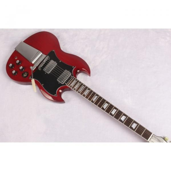 Custom Shop SG Angus Young Red 6 String Electric Guitar Maestro Vibrola