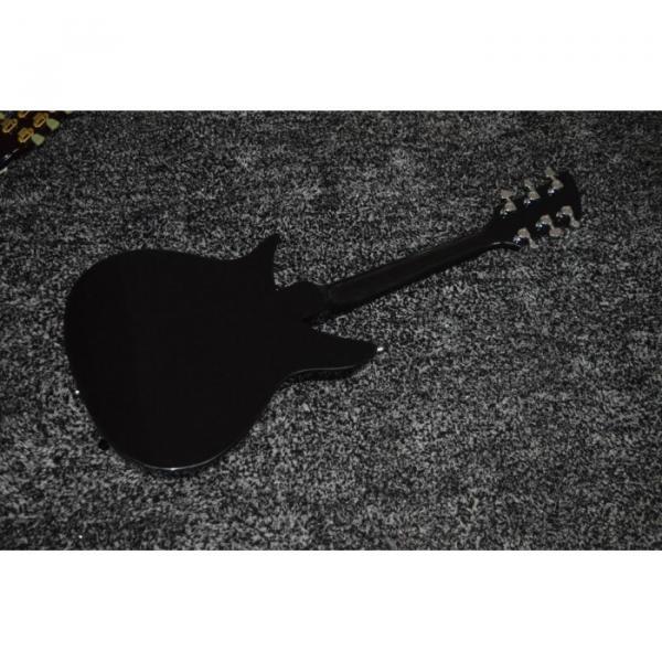 Custom Shop Rickenbacker 325 Jetglo Black 6 String Electric Guitar