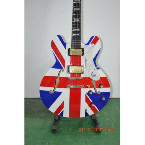 Custom Shop Noel Gallagher British Flag Electric Guitar
