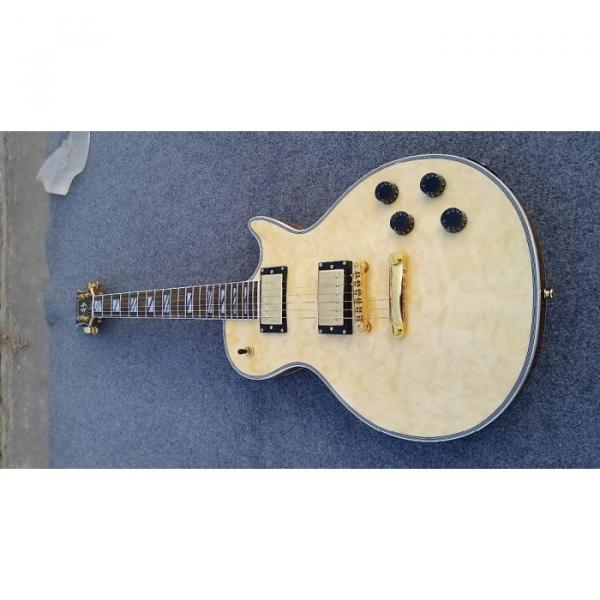 Custom Shop Natural Cream Quilted Maple Top Electric Guitar