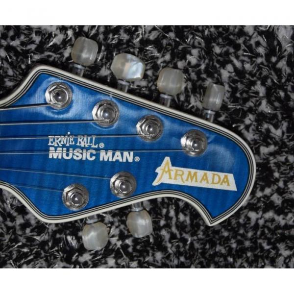 Custom Shop Music Man Blue Black Armada Ernie Ball Electric Guitar
