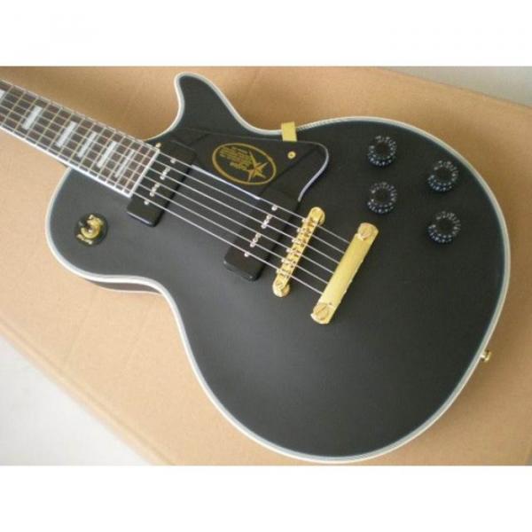Custom Shop Matte Black Electric Guitar