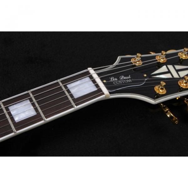 Custom Shop LP Fhole Black Burst Electric Guitar 4 Pcs Pickugard