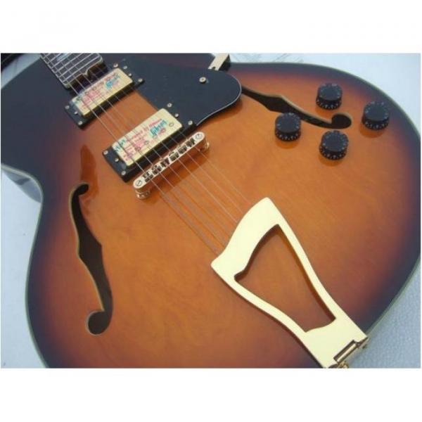 Custom Shop L5 Fhole Aged Brown Color Jazz Electric Guitar