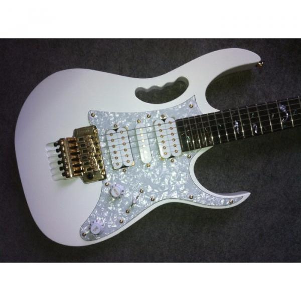 Custom Shop Jem 7V Steve Vai White Floyd Rose IBZ Electric Guitar