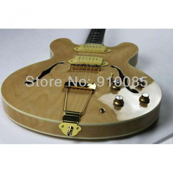 Custom Shop Inspired Natural John Lennon 1965 Casino Electric Guitar