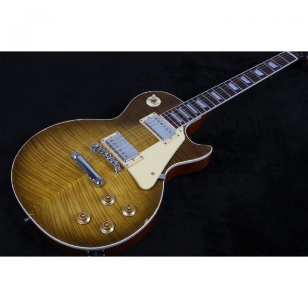 Custom Shop Gloss Relic LP Electric Guitar Maple Country Tobacco Body Top
