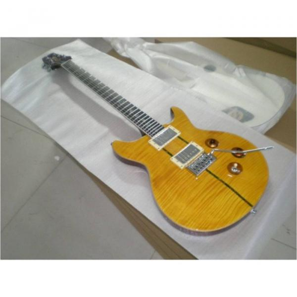 Custom Shop Flame Maple Top Yellow Electric Guitar