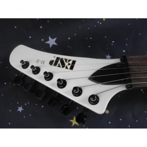 Custom Shop Explorer ESP Korina White Electric Guitar