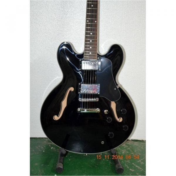 Custom Shop ES335 Curly Black LP Electric Guitar
