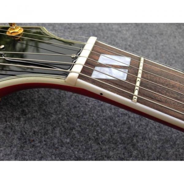 Custom Shop ES335 Spalted Maple Veneer Red Electric Guitar