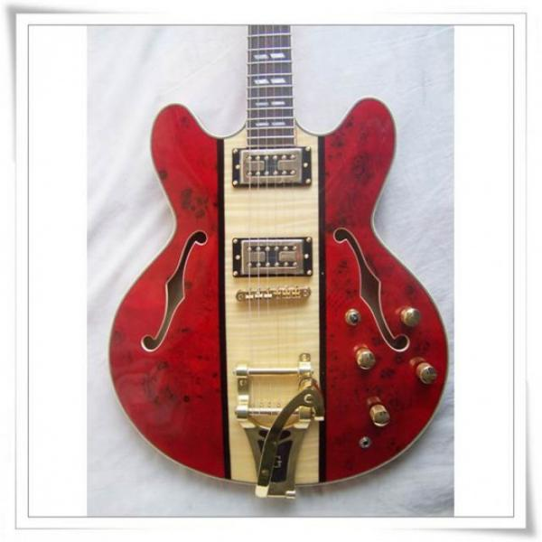 Custom Shop ES 335 Spalted Maple Red Electric Guitar