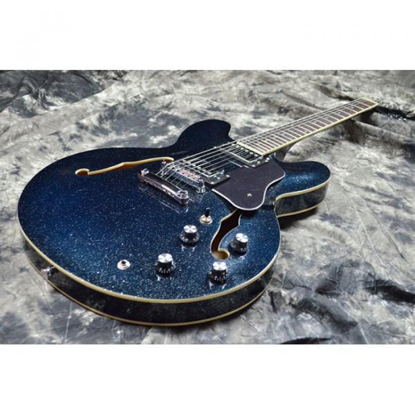 Custom Shop ES 335 Sapphire Blue Jazz Electric Guitar