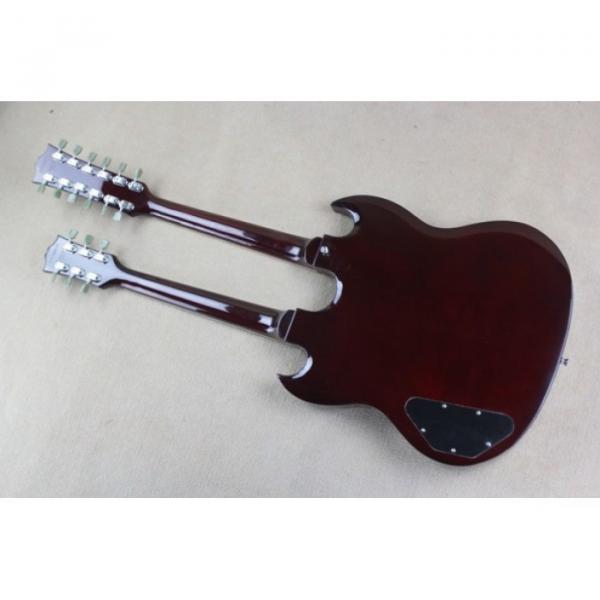 Custom Shop Don Felder EDS 1275 SG Double Neck Red Wine Electric Guitar