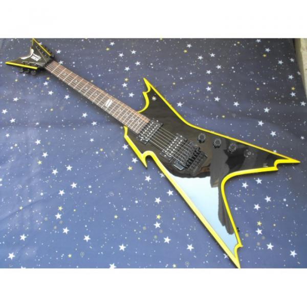 Custom Shop Black Yellow Bindings Dime Razorback Dean Electric Guitar