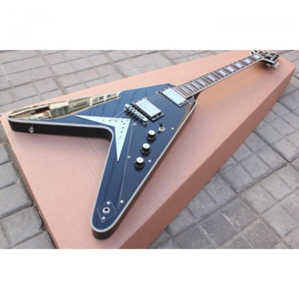 Custom Shop Black guitarra Flying V Electric Guitar