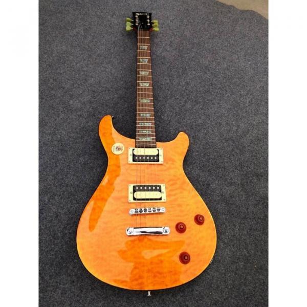 Custom Shop Birds Eye Maple Top Sunburst Electric Guitar