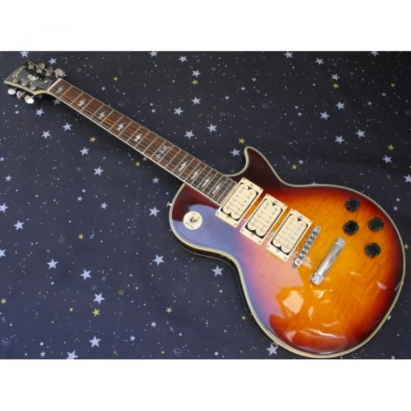 Custom Shop Ace Frehley Tobacco Flame Maple Top LP Electric Guitar