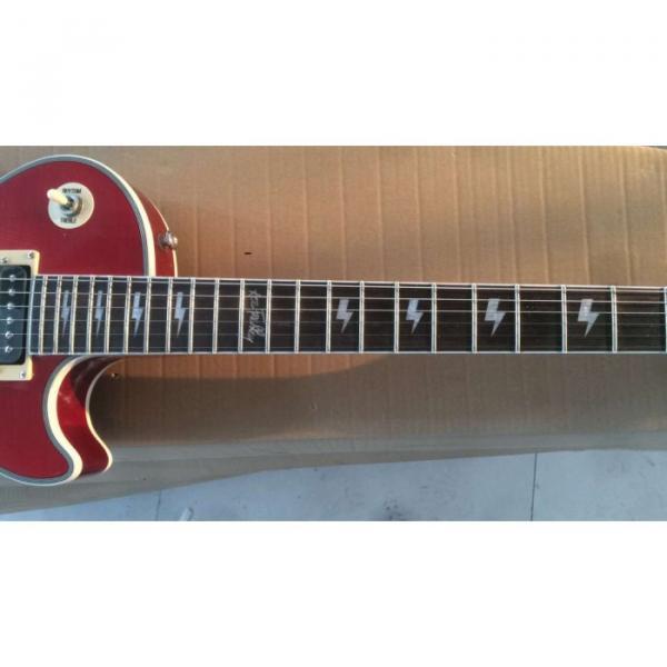 Custom Shop Ace Frehley LP Sunburst Flame Maple 6 String Electric Guitar