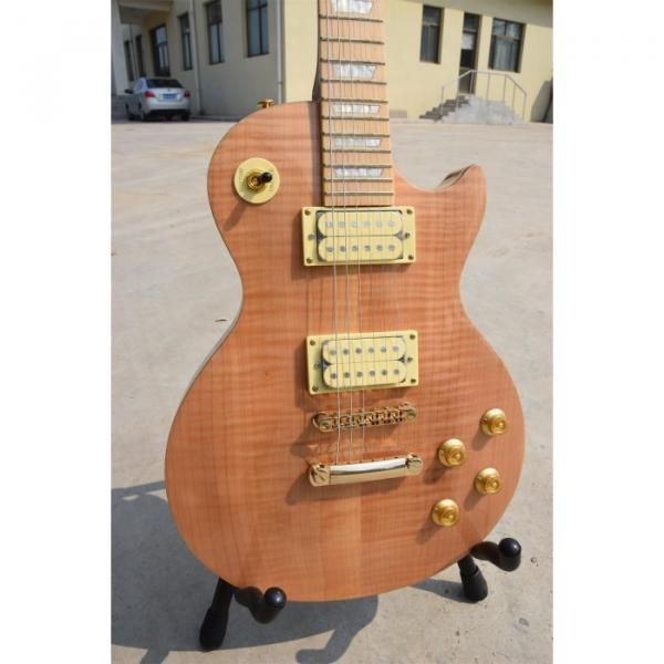 Custom Shop 6 String Solid Tiger Maple Top Electric Guitar