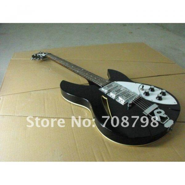 Custom Rickenbacker 330 Black Electric Guitar
