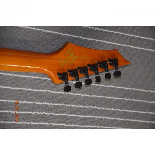 Custom Red Orange Flame Maple Top Dime Dean Electric Guitar