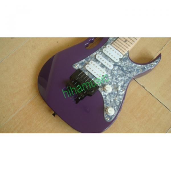 Custom Purple Ibanez Steve Vai Star Inlay Electric Guitar