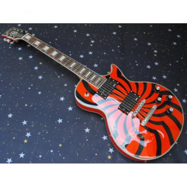 Custom Orange Buzzsaw Zakk Wylde Bullseyes Electric Guitar