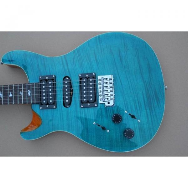 Custom Left Handed Paul Reed Smith Sky Blue Electric Guitar