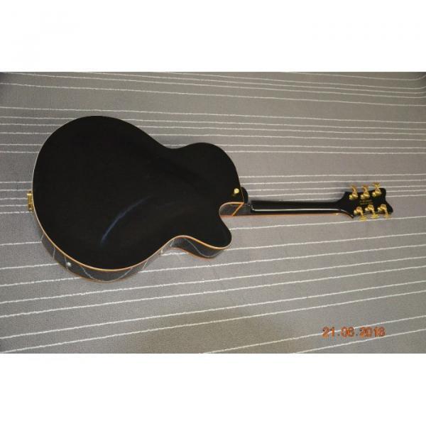 Custom Left Handed Gretsch Falcon Black Gold Pickuguard Electric Guitar