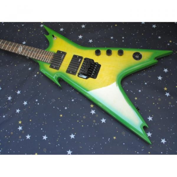 Custom Green Dime Razorback Dean Electric Guitar
